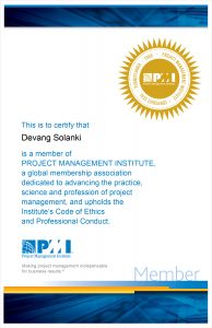 Project Management Institute Membership Certification