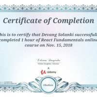 Devang Solanki Certify Completion of Learn JavaScript Fundamentals