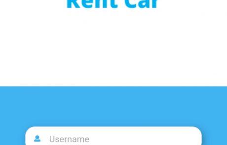 Car Rental App Landing Screen