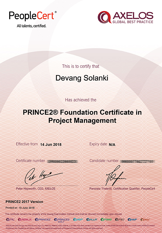 PRINCE2® 2017 Foundation Certificate in Project Management