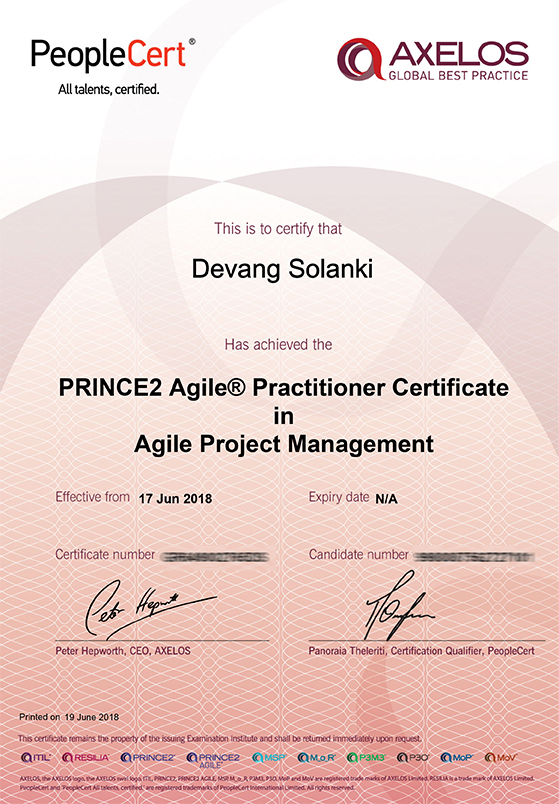 PRINCE2 Agile® Practitioner Certificate in Agile Project Management